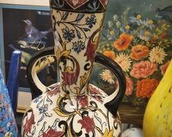 Vase Gien avec anse plat Gien Renaissance